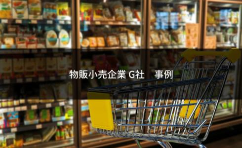 物販小売企業G社事例